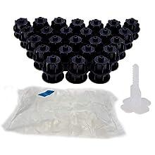 Brunoplast NIVIFIX Fliesen Nivelliersystem - das Original! Starter-Set Basis-Set schwarz für Wand- und Boden-Fliesen von 3-12 mm Stärke/Dicke, wiederverwendbar Verlegehilfe System aus Kunststoff