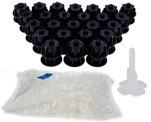 NIVIFIX Brunoplast Fliesen Nivelliersystem Starter-Set schwarz für Fliesen 3 - 12 mm Stärke (Verlegehilfe, Verlegesystem, Fliesenverlegung, Fliesenverlegehilfe, Fliesenverlegesystem, Fliesennivelliersystem)