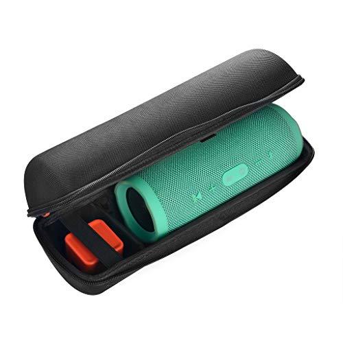 Für JBL Charge3 Bluetooth-Lautsprecher Hülle Case Weiche Hard Travel Tragetasche Aufbewahrungskoffer wasserdichte tragen Fester Aufbewahrungskoffer Hardcase Schutzhülle Case Cover (Black) 3 Hard Case Travel Cover