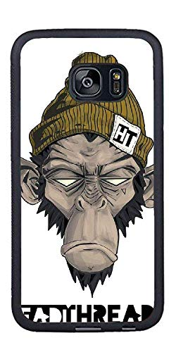 Custom Samsung Galaxy S7 Edge Cases - A Monkey with A Hat Hard Plastic Phone Cell Case for Samsung Galaxy S7 Edge -