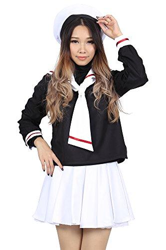 me Kinomoto Sakura Female Winter School Uniform Set V1 (Sakura Kinomoto Cosplay Kostüme)