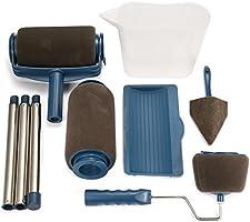 ARTISTORE Set di Rullo per Pittura multifunzione professionale Pennello per manico in ottone per fai da te 9psc