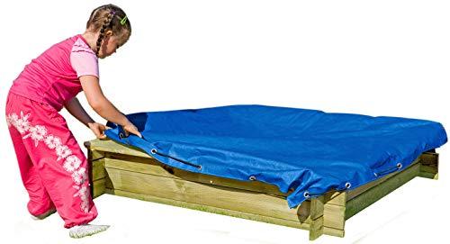 Gartenpirat Sandkasten-Abdeckung 120x120 cm wasserdichte Plane mit Gummizug