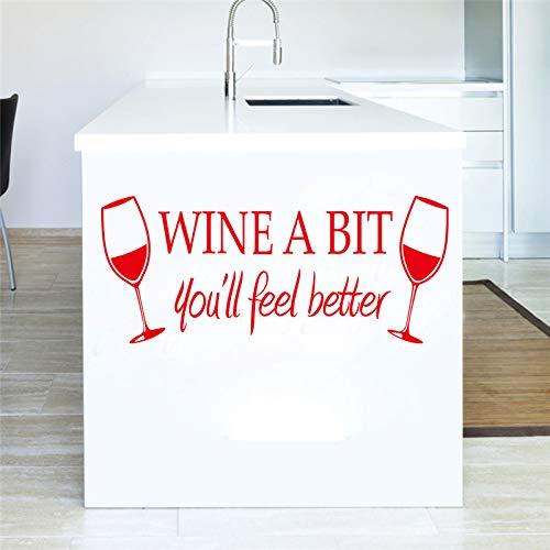 (Wandaufkleber Wein Bit Rotwein Glas Gravierte Gravierte Aufkleber Küche Bar Wohnkultur)