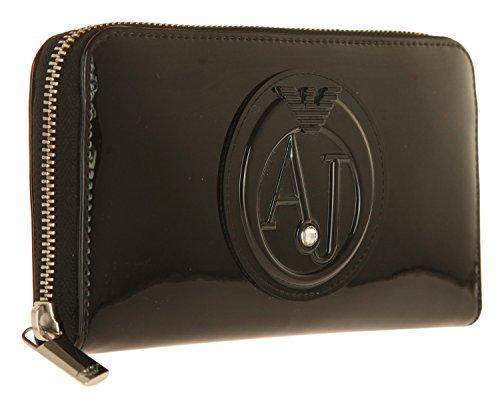 Portefeuille vernis avec emplacement portemonnaie et 6 emplacements CB de chez Armani Jeans Multicolore