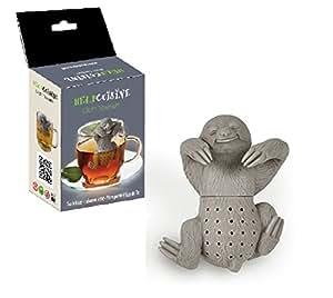 HelpCuisine® Infuser/infuseur de thé/Filtre diffusseur/passoire a thé à Forme de Paresse, infuseur réalisé en Silicone à 100% Alimentaire sans BPA, (Set 1 pcs + Paquet-Cadeau)