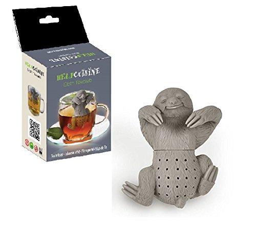 Tier Tee (HelpCuisine teesieb teeei teefilter tea infuser teekugel, teesieb, Modernes Design, Niedliches Tier Faultier Tee-Ei aus hochwertigem Silikon 100% BPA frei, in der originalen HelpCuisine-Verpackung)