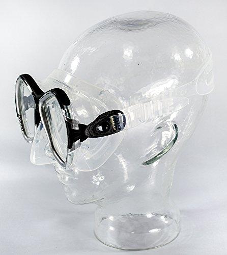 SALVAS Profi Tauchmaske BRAVO, Tempered Sicherheitsglas, verstellbares Maskenband. Taucherbrille, Tauchermaske, Tauchen, Schnorcheln (Schwarz)