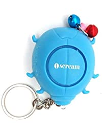 iscream Beetle Blue Pink Plastic Self Defense Alarm With Led Keychain