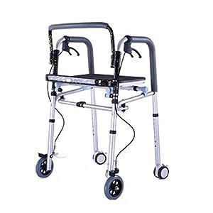 WZHWALKER Älterer Walker, Aluminium-Strukturwandler Mit Bremsenbremse, Trägerplatte Für Ältere Menschen Mit Behinderung