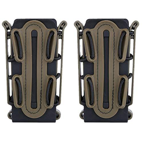 YxFlower Mag Pouch Molle - 2 Stück Mag Pouch 9mm Taktische Pistole Magazinetasche Mag Carrier für 5.56/7.62 Mag -