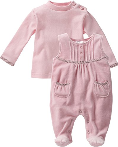 Schnizler Baby-Mädchen Strampler Nicki, 2-tlg. Set, Langarmshirt, Gr. 56, Rosa (original 900)