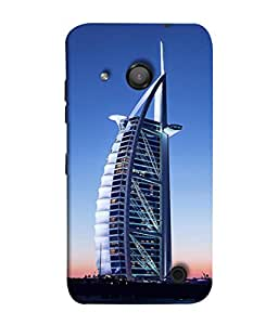 PrintVisa Sail Shaped Building 3D Hard Polycarbonate Designer Back Case Cover for Microsoft Lumia 550