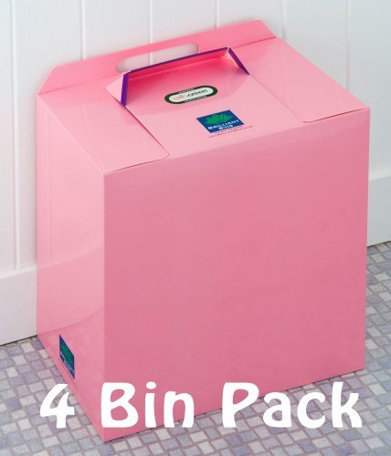 Pink Einweg Sanitär Mülleimer-4Stück Brilliant Mülleimer: Preisgekrönte, niedrige Kosten, keine Verträge
