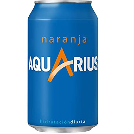 Aquarius Naranja Bebida para deportistas refresco sin gas 330 ml Pack de 6 Lata