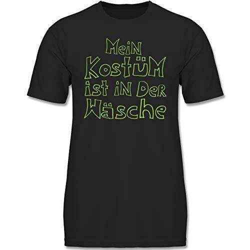 Karneval & Fasching Kinder - Mein Kostüm ist in der Wäsche - 140 (9-11 Jahre) - Schwarz - F130K - Jungen Kinder T-Shirt