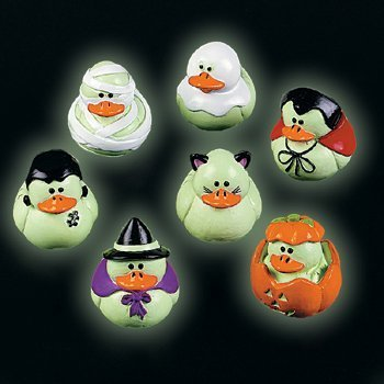 Mini Glow-in-the-Dark Halloween Rubber Duckies - Party and Events by Terrys Village