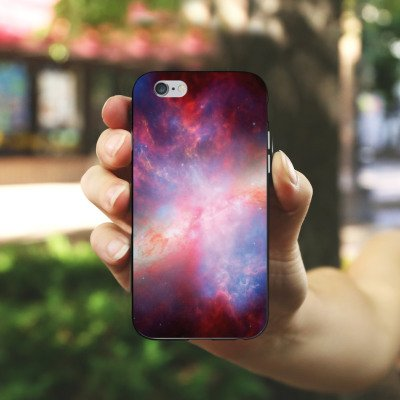Apple iPhone X Silikon Hülle Case Schutzhülle Galaxy Space Muster Silikon Case schwarz / weiß
