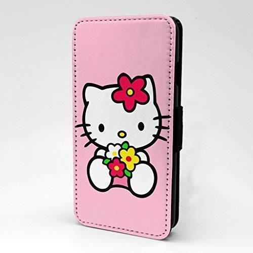 Hello Kitty Gedruckt Ipod Klappetui Cover für Apple Ipod Touch 6te Generation - Pink Hello Kitty - S-T1465 (Hello Kitty Cover Für Ipod Touch)