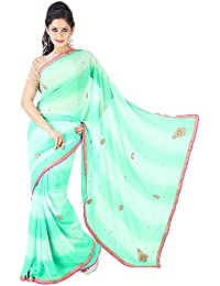 Archiecs Creations Georgette Saree With Blouse Piece