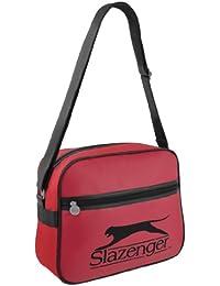 Para hombre Retro Slazenger palo de golf para niños funda de piel sintética tipo bandolera de hombro bolso bandolera para la escuela rojo