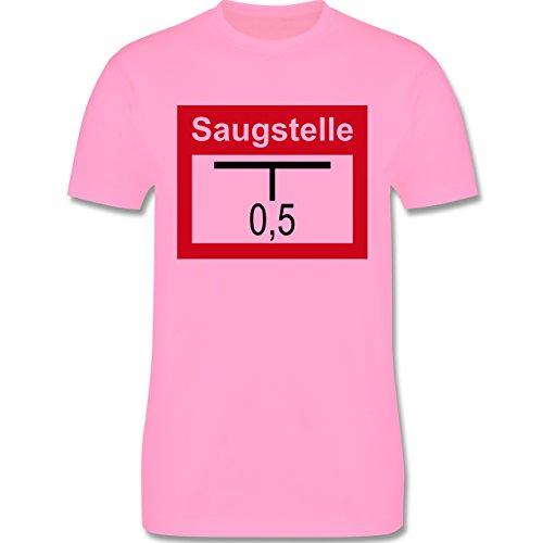 Feuerwehr - Saugstelle - Herren Premium T-Shirt Rosa