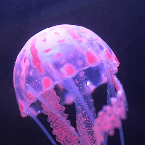 Shuzhen,Meduse d'ardore Artificiali di 5cm con la Decorazione dell'acquario del carro Armato di Pesci della Ventosa(Color:Rosso,Size:m)
