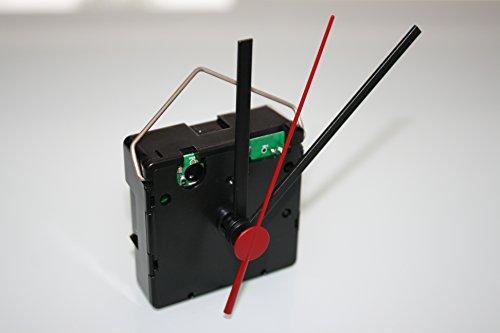 UTS Funkuhrwerk für Ziffernblatt 5-11mm Zeigersatz Nr.1 schwarz-schwarz-rot
