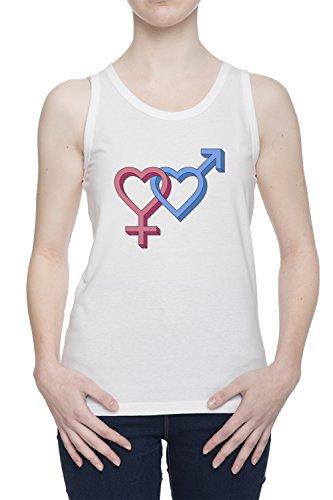 Amore Donna Bianco Canotta T-shirt Tutte Le Taglie | Women's White Tank T-Shirt Vest Top