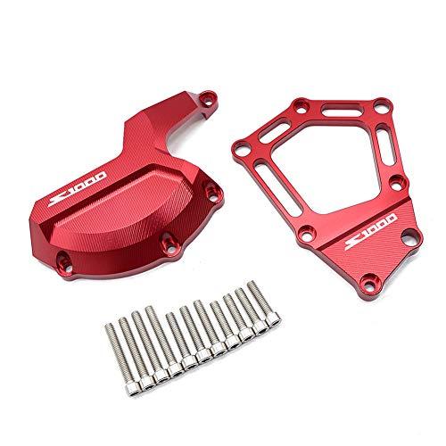 Qazwsx Moteur Stator Couverture Moto CNC en Aluminium Case Slider Protecteur pour BMW S1000RR 10-16,Red