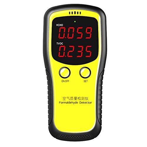Qiman Tragbarer LCD Digitaldioxid-Messgerät CO2 Monitor PM2.5 Innenluftqualitäts Formaldehyd Detektor