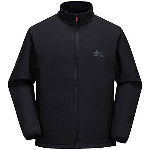 COX SWAIN Herren Softshell Jacke CHARLY - hoher Tragekomfort!, Colour: Black, Size: M