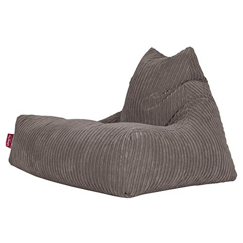 Lounge Pug®, Puff Pera 'Relajarse', Pana Clásica - Grafito