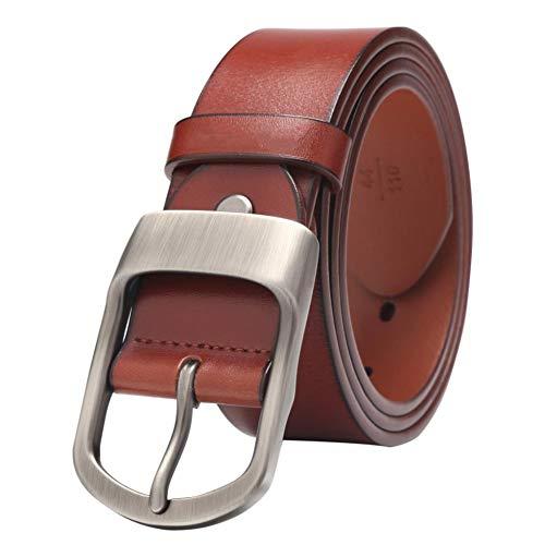 LYWBLACK Cinturones Hombres MarcaCinturónGenuinoHombres Marca Correa Hombre Vintage Cowboy Jeans Cinturón