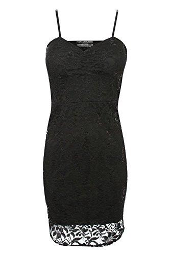 PILOT® strappy Sequinspitze figurbetontes Kleid Schwarz
