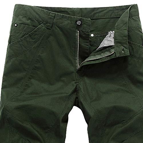 1e40df48e768 Pantaloni Casual da Uomo con Tinta Unita e Cerniera Pantaloncini Corti  Jeans Uomo Pantaloncini Casual alla Moda Outdoor Estivi Abbigliamento  -PANPANY