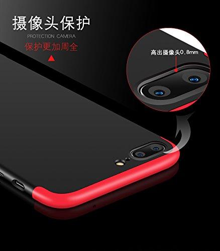 Cover iPhone 6s plus,Custodia iPhone 6s plus,XINYUNEW 360 Gradi+ Pellicola Protettiva in Vetro Temperato [2-Pack] della copertura completa 3 in 1 Hard PC Case Cover Stilosa Protettiva Bumper Antiurto  Blu