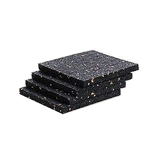 Terrassenpads aus Gummigranulat, 50 Stück, 10 x 10 x 1 cm