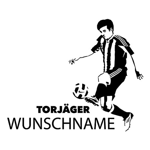 Wadeco Fußballspieler Torjäger Namen Wandtattoo Wandsticker Wandaufkleber 35 Farben verschiedene Größen, 48 cm x 39 cm, (Feld 48 Tor)