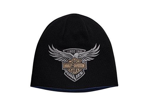 Harley-Davidson Harley-Davidson115th Anniversary Reversible Knit Hat Mütze, 99416-18VM (Knit Reversible Mens)