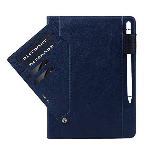 TechCode iPad Pro 11 Zoll Hülle 2018, Premium PU Ledertasche Tablet Smart Stand Case Slim Fit Cover mit Kartensteckplatz und Handschlaufe für iPad Pro 11'' 2018