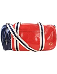 Fred Perry Classic Barrel Bag TARTAN RED
