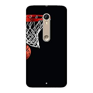 Cute Basket Ball Multicolor Back Case Cover for Motorola Moto X Style