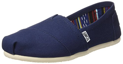 TOMS Women's Canvas Classics Alpargata NL Espadrilles, Blue (Navy Canvas), 6 UK