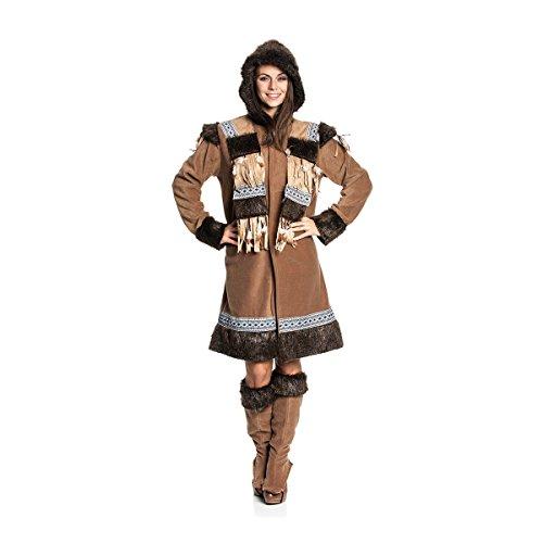 (Kostümplanet® Eskimo-Kostüm Damen Faschings-Kostüm Gruppen Größe 44/46)