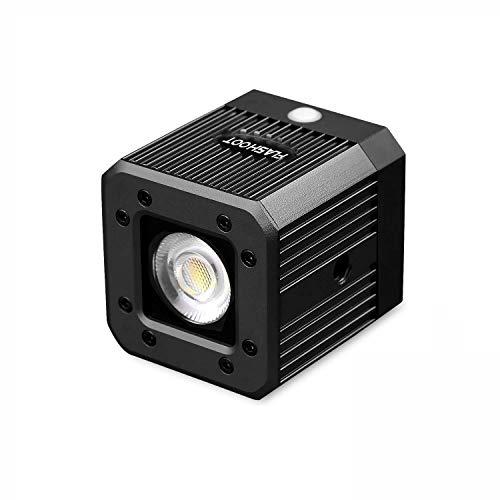 """Wildhooy für 8W 200LUX /1M wasserdichte Aluminiumlegierung Mini Pocket Cube LED Video Licht Strobe Funktion mit 1/4\""""Loch für DSLR Smartphone GoPro Drohne Kamera Camcorder DJI Zhiyun Feiyu Moza"""
