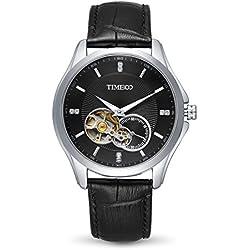 Time100 Men's Fashion Multifunction Black Automatic Self-winding Mechanical Steel Luminous Watch #W60017G.02A