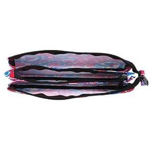 Blackfit8-Blackfit Blackfit8-Estuche portatodo Triple, Color Rojo y Azul, 22 cm (SAFTA 841744744)