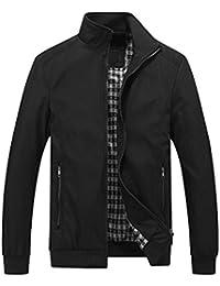 fc5f4d6592 Homme Blouson Léger Couleur uni Casual Affaires Manches Longues Slim Fit  Jacket Veste