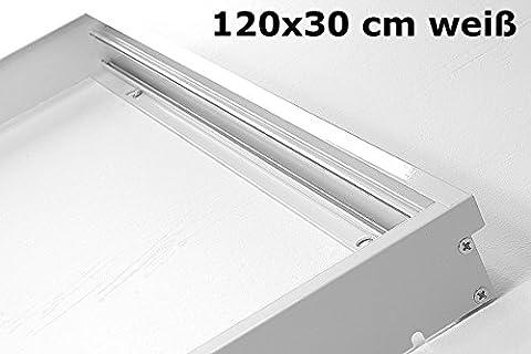 Lumixon Panneau lumineux LED Cadre 120x 30x 5cm–Panel Boîtier aluminium émail blanc